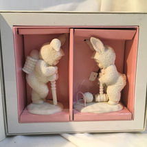 """DEPT 56 SNOWBUNNIES """"EASY DOES IT""""  SET of TWO - $15.00"""