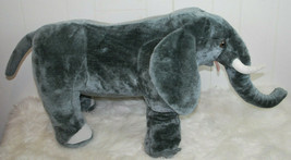 Melissa & Doug Elephant Plush 2185 JUMBO 3FT Stuffed Animal Gray Toy AS IS  - $49.45
