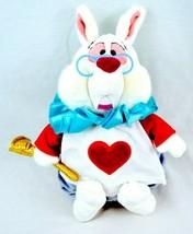 """Disney Store Original Authentic Alice in Wonderland White Rabbit Plush 16"""" - $45.00"""