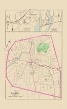 Danbury, Fairfield, Saugatuck Connecticut 1893 - Hurd 23 x 37.16 - $36.95+