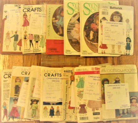 Primary image for Doll Clothing Patterns Lot