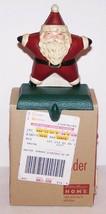 FABULOUS EDDIE BAUER CAST IRON SANTA STAR STOCKING HOLDER IN BOX - $44.54
