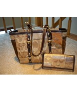 COACH Patchwork Tote BROWN/GOLD 10388  FREE WALLET  **$60 FIRM**