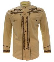 Men's Charro Shirt Camisa Charra El General Western Wear Beige Long Sleeve - €30,09 EUR+