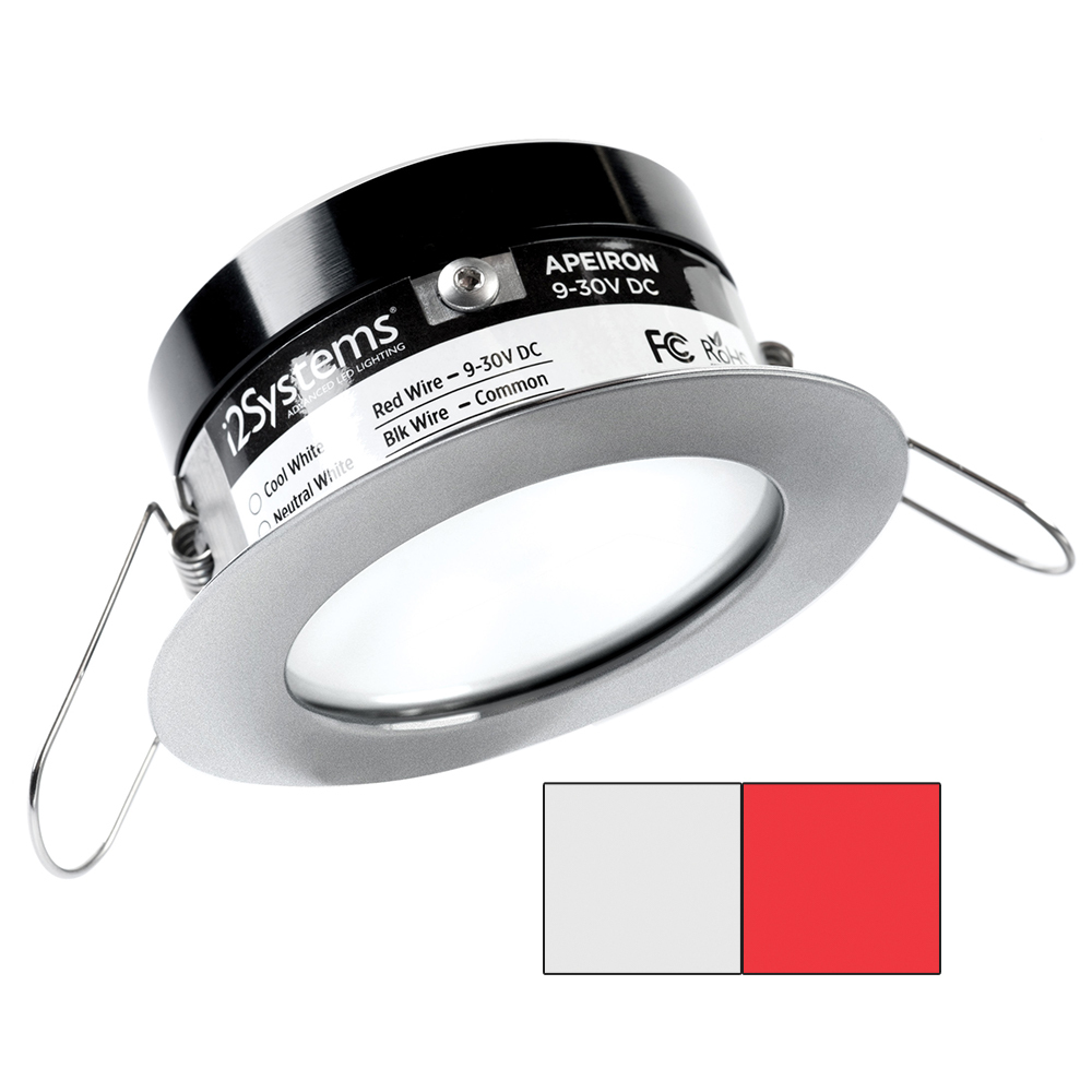 i2Systems Apeiron PRO A503 - 3W Spring Mount Light - Round - Cool White  Red - B - $116.00