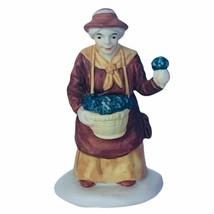 Department 56 Heritage village Christmas figurine 5580-8 violets vendor ... - $16.40