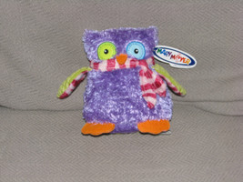 "Mary Meyer Owl Stuffed Plush Purple Green Blue Stripe Scarf Small B EAN Bag 5"" - $21.62"