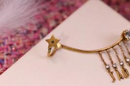 NEW AUTH Christian Dior 2019 J'ADIOR EARRINGS GOLD STAR CRYSTAL DANGLE image 4