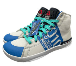 Reebok Crossfit Shoes Hi Top High Womens Size 7 White Blue New Fast Ship... - $63.69