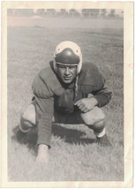"""Vintage 1940s - 50s Football Player Photograph, 5"""" x 7"""", Glossy - $8.60"""
