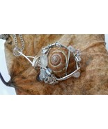 Breezy Spaces Necklace: Natural snail with clear and white beads - $36.00