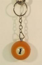 1.25 Inch Number 1 One Mini POOL BALL Billiard Key Chain Ring Keychain NEW - $7.99