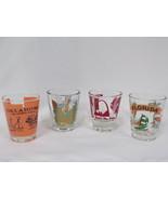 ORIGINAL Vintage Antique Shot Glass Lot of 7 w/ Florida Oklahoma Niagara... - $46.42