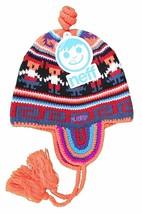 Neff Headwear Unisex Llama Neon Orange Wildstyle Beanie w Tassels W11180 NWT