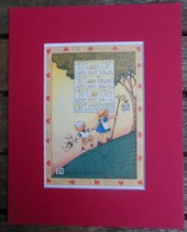 "Mary Engelbreit Print Matted 8 x 10"" ""To Look Up and Not Down"" Boy and Girl - $16.40"