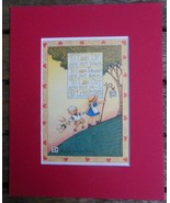 """Mary Engelbreit Print Matted 8 x 10"""" """"To Look Up and Not Down"""" Boy and Girl - $16.40"""
