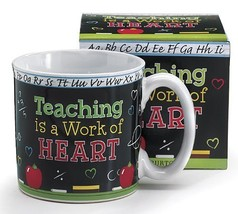 Teaching Is A Work Of Heart Teacher's Coffee Mug With Gift Box - $13.79