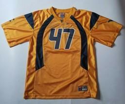 Nike West Virginia Mountaineers Youth L Football Jersey #47 Yellow NCAA WVU - $19.99
