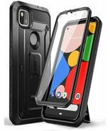 Google Pixel 4A Case Full-Body Rugged Holster Case Built-in Screen Prote... - $29.69