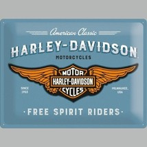Harley-Davidson Free Spirit Riders Motorcycles 3D Large Metal Steel Wall... - $18.59