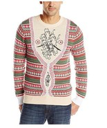 Alex Stevens Men's Hairy Chest Cardigan Ugly Christmas Sweater - Size Small - £13.56 GBP