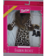 Barbie Full Length Leopard Print Coat w/Bag & Boots Mattel #22155 Fashio... - $16.99