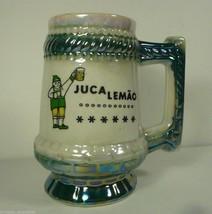 Vtg Jucalemao Restaurant Lusterware Mug Ceramica Sta Izabel Sau Paulo Br... - $17.60