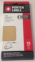 Porter Cable 763801015 1/3 Sheet Stick On Sandpaper 100 Grit 15 Sheets - $4.46