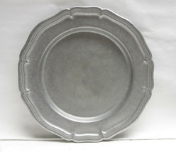 "WILTON ARMETALE Pewter - COUNTRY FRENCH (satin) - 10 3/4"" DINNER PLATE - $42.95"