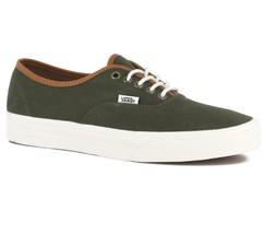 VANS Authentic (T&L) Grape Leaf Green Men's Skate Shoes SIZE 11.5 - $47.95