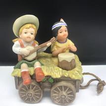SAGEBRUSH KIDS FIGURINE Christmas caravan gregory perillo 1987 vague sha... - $23.76