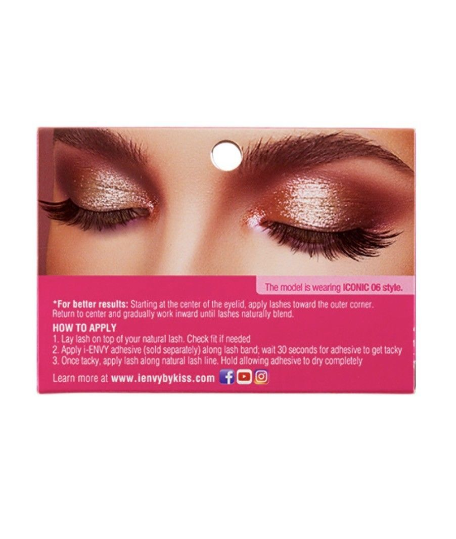 ce43131978b I ENVY BY ICONIC COLLECTION 3D ANGLE & VOLUME EYELASHES # KPEI06 GLAM ICON