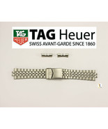 Men's TAG HEUER 21mm Original Stainless Steel Silver Metal Watch Band  - $499.00