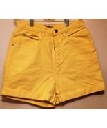 Limited yellow denim shorts size 10 waist is 26 girls - $4.95
