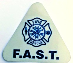 F.A.S.T. Team Fire Rescue Blue Reflective Fast Decal - $3.26