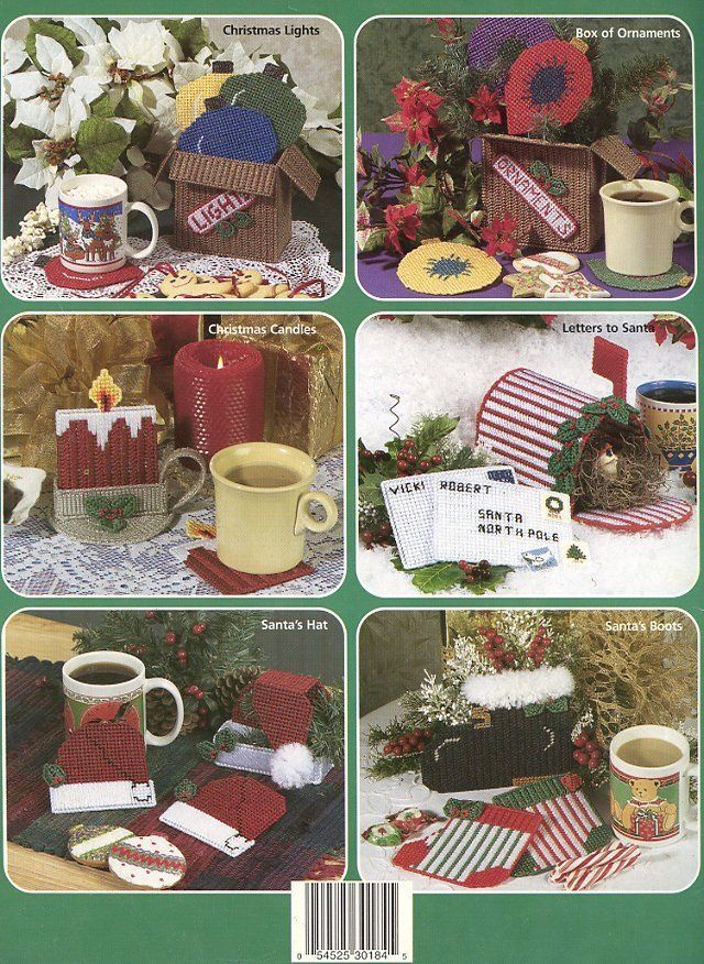 Plastic Canvas Christmas Coaster Patterns.Christmas Coasters 10 Designs Plastic Canvas And 50 Similar