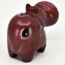 Crafts Caravan Soapstone Red Hippopotamus Hippo Figurine Made Kenya image 4