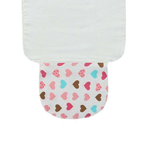 Set of 3 Love Heart Style Cotton Material Small Size Baby Towels