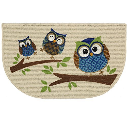Mainstays Slice Kitchen Rug, Owl Branches, 18 X 30 Inches