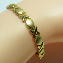 """14K 14 KT Yellow Gold HSN Michael Anthony Stampato Chain Hugs Kisses 8"""" ... - $197.01"""