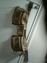 All Leather & Metal Heavy Duty CLC Contractor's Tool Belt Construction... - $22.05