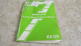 Kawasaki KX125 Owner's & Service Manual  OEM Used 646 - $9.49