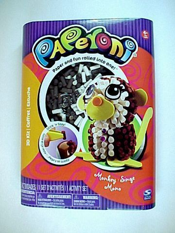 Spin Master Paperoni Monkey 3D Activity Craft Kit - Paper & Fun Rolled Into One