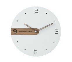 Moro Design Real Wood Nine Wall Clock non Ticking Silent Modern Clock (Simple)