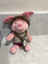 "Disneyland Disney Winnie the Pooh Safari Piglet Plush Stuffed Animal 8"" A20 - $12.95"