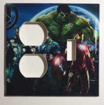 Comics Heroes iron-man Hulk Light Switch Outlet Toggle Wall Cover Plate Home dec image 5