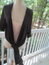 Calvin Klein Black WRAP/JACKET,NWT, Sz Xl,Soft&Silky 95% Polyester,Glamorous - $14.84