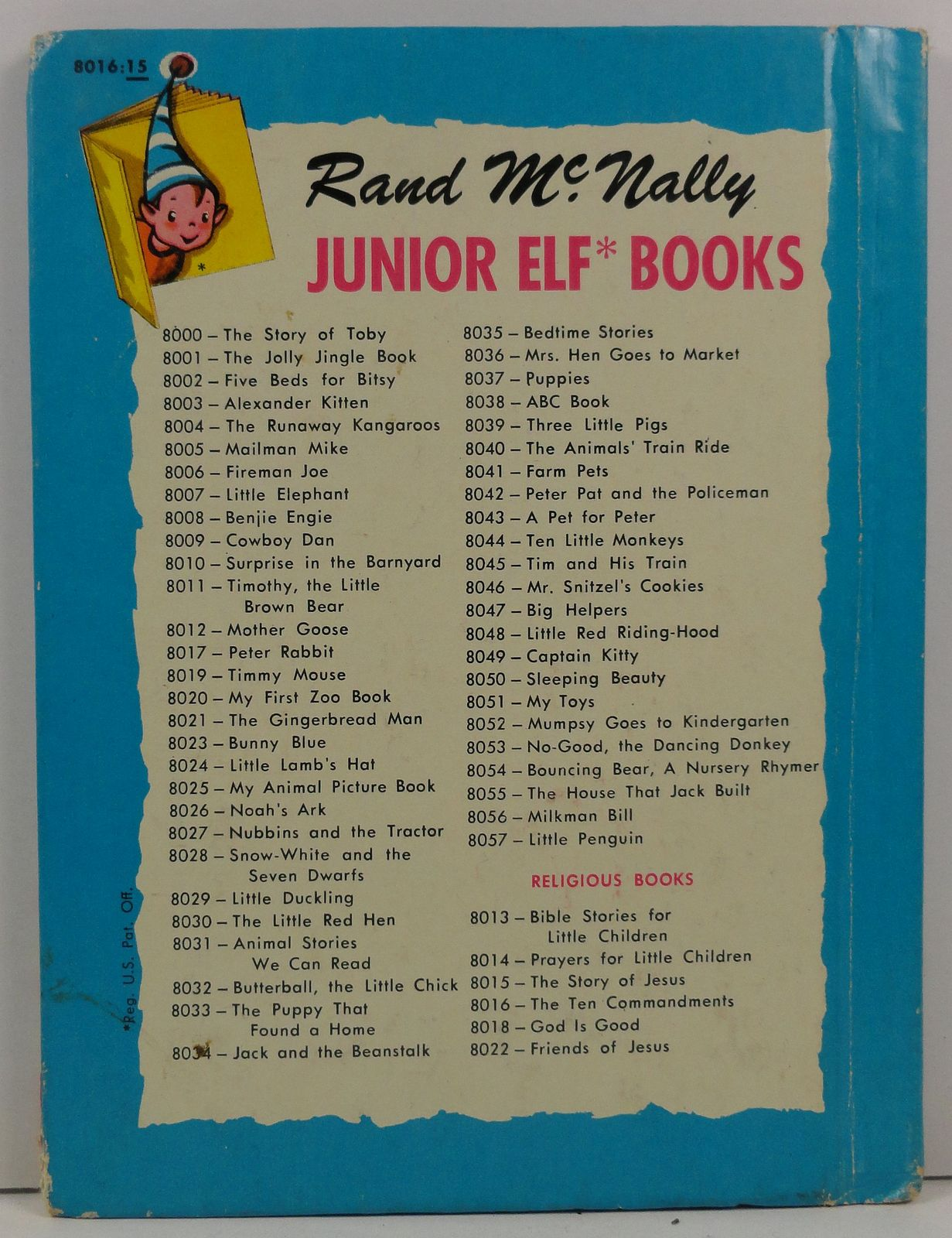 The Ten Commandments Mary Alice Jones Junior Elf Book
