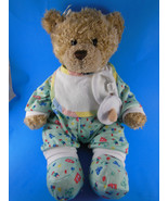"""Build a Bear Baby Teddy Bear 15"""" In Pajamas With Pacifier Bib & Booties ... - $23.75"""