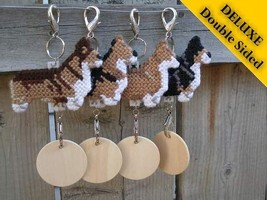 Pembroke Welsh Corgi Deluxe crate tag, decor dog ornament art, choose your color - $20.00